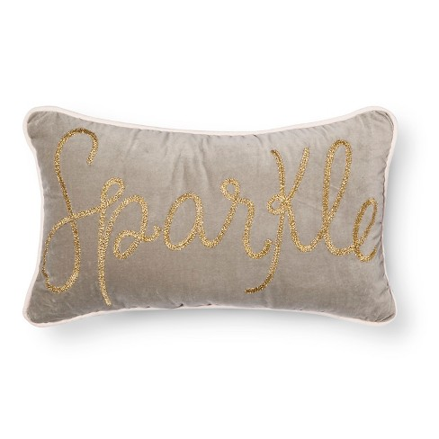 "Sparkle Throw Pillow (20""x12"") Gray - Pillowfort™ - image 1 of 4"