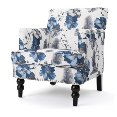 Boaz Upholstered Club Chair   Floral Print   Christopher Knight Home