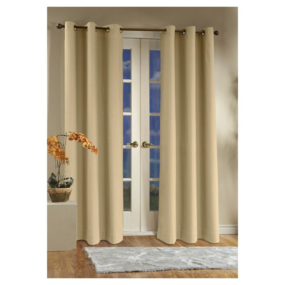 Weathermate Grommet Top Curtain Panel Pair - Khaki (Green) (80 x 54)