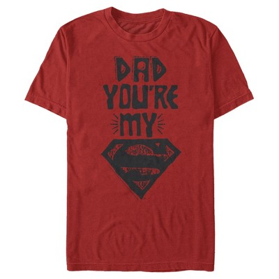 Men's Superman Father's Day Dad My Hero T-Shirt