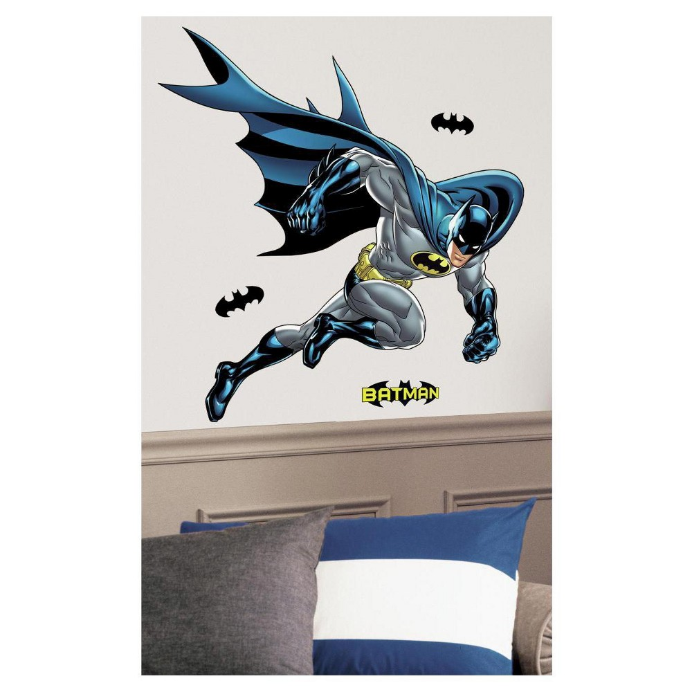 Image of RoomMates Batman Bold Justice Peel & Stick Giant Wall Decal