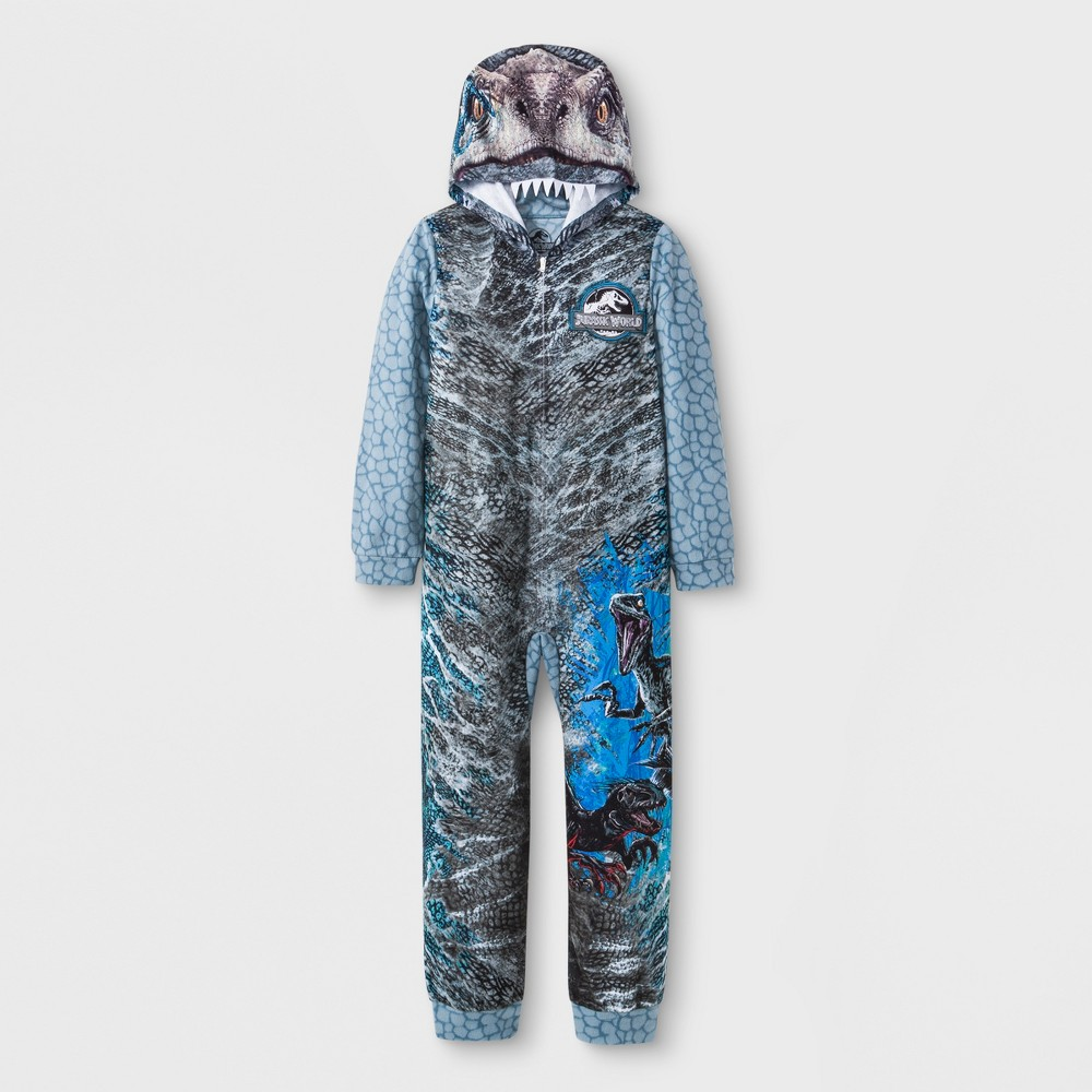 Boys' Jurassic World Union Suit - Gray L