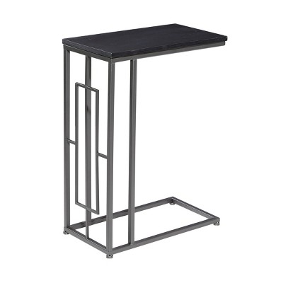 Contemporary Iron and Wood Accent Table - Olivia & May