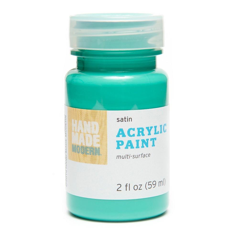 Image of 2oz Satin Acrylic Paint - Carrot Hand Made Modern , Green