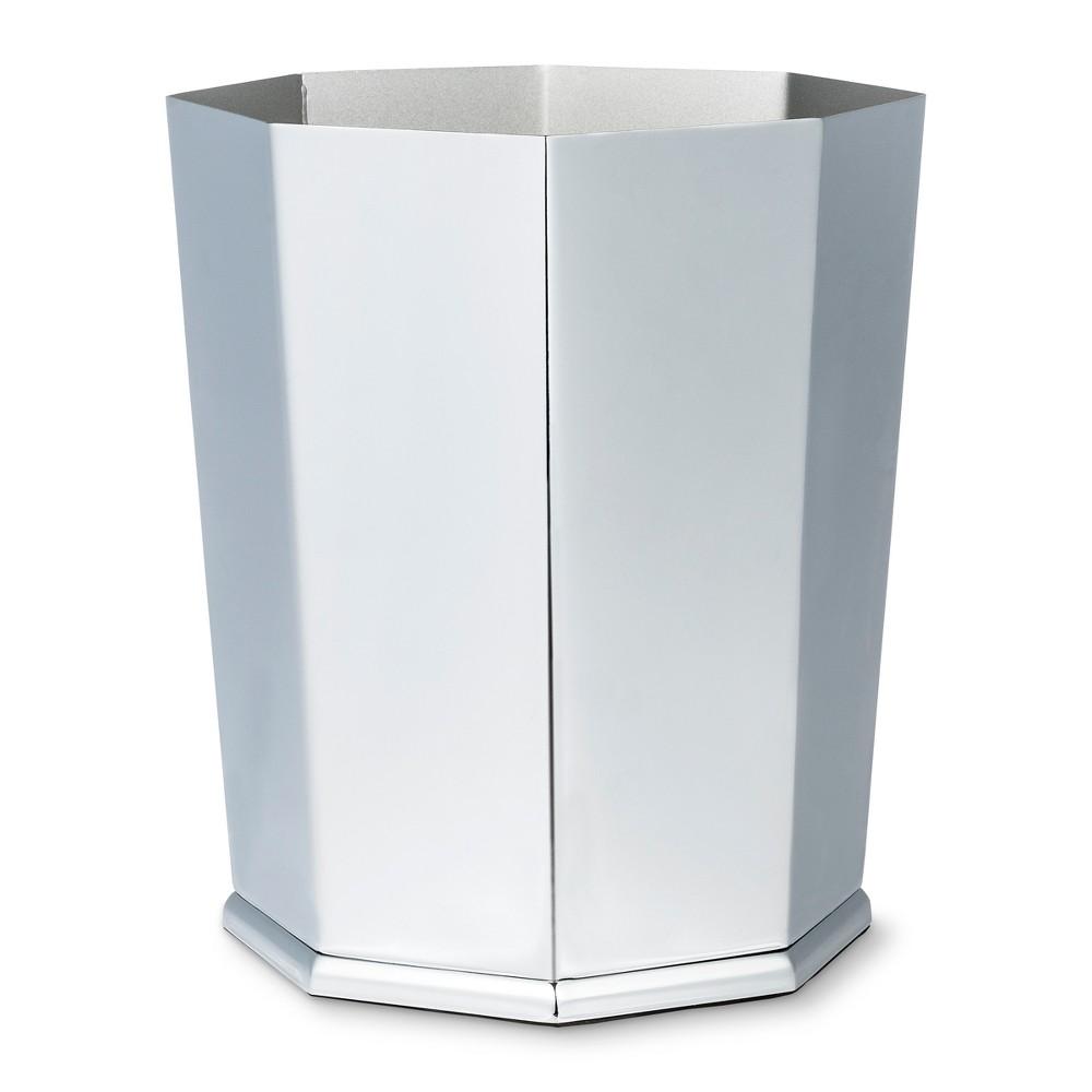 Image of Bathroom Wastebasket Chrome - Threshold , Grey