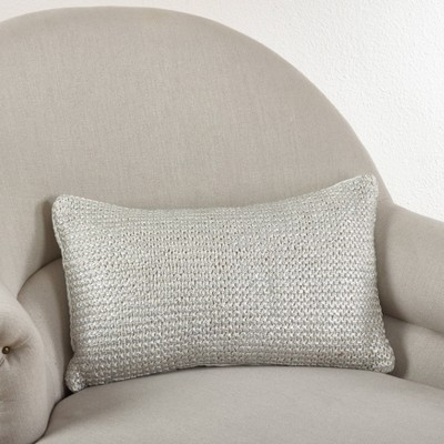 Down Filled Knitted Design Throw Pillow - Saro Lifestyle