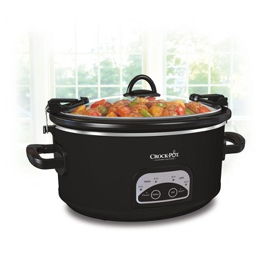 Crock-Pot 6qt Programmable Cook & Carry Slow Cooker - Black SCCPVLF605-B