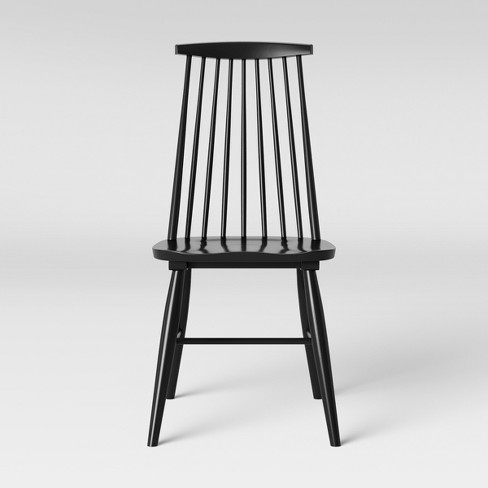 Harwich High Back Windsor Dining Chair Black - Threshold™ - image 1 of 4