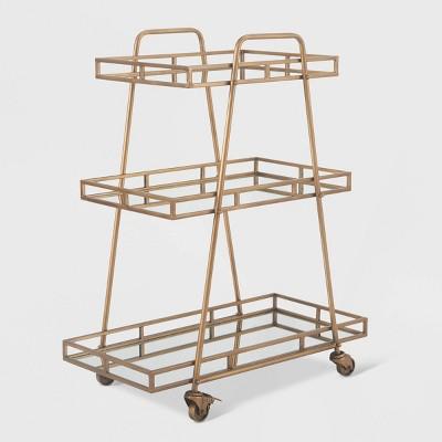 Addison Bar Cart Antique Gold - Adore Decor