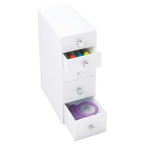 InterDesign 5 Drawer Desktop Storage Unit - White - image 1 of 2