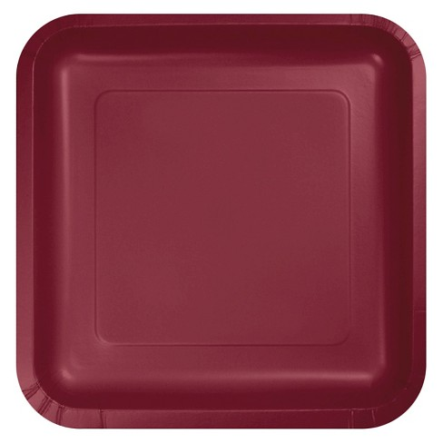 "Burgundy Red 7"" Dessert Plates - 18ct - image 1 of 1"