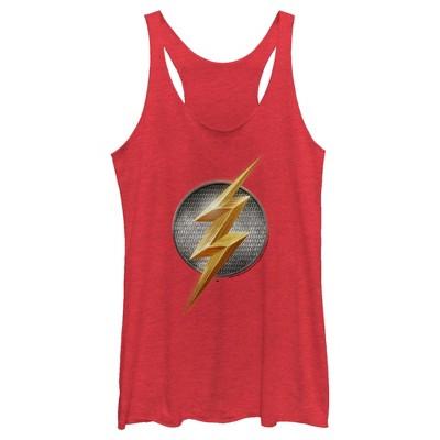 Women's Zack Snyder Justice League The Flash Logo Racerback Tank Top