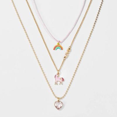 Girls' 3pk Unicorn Necklace Set - Cat & Jack™