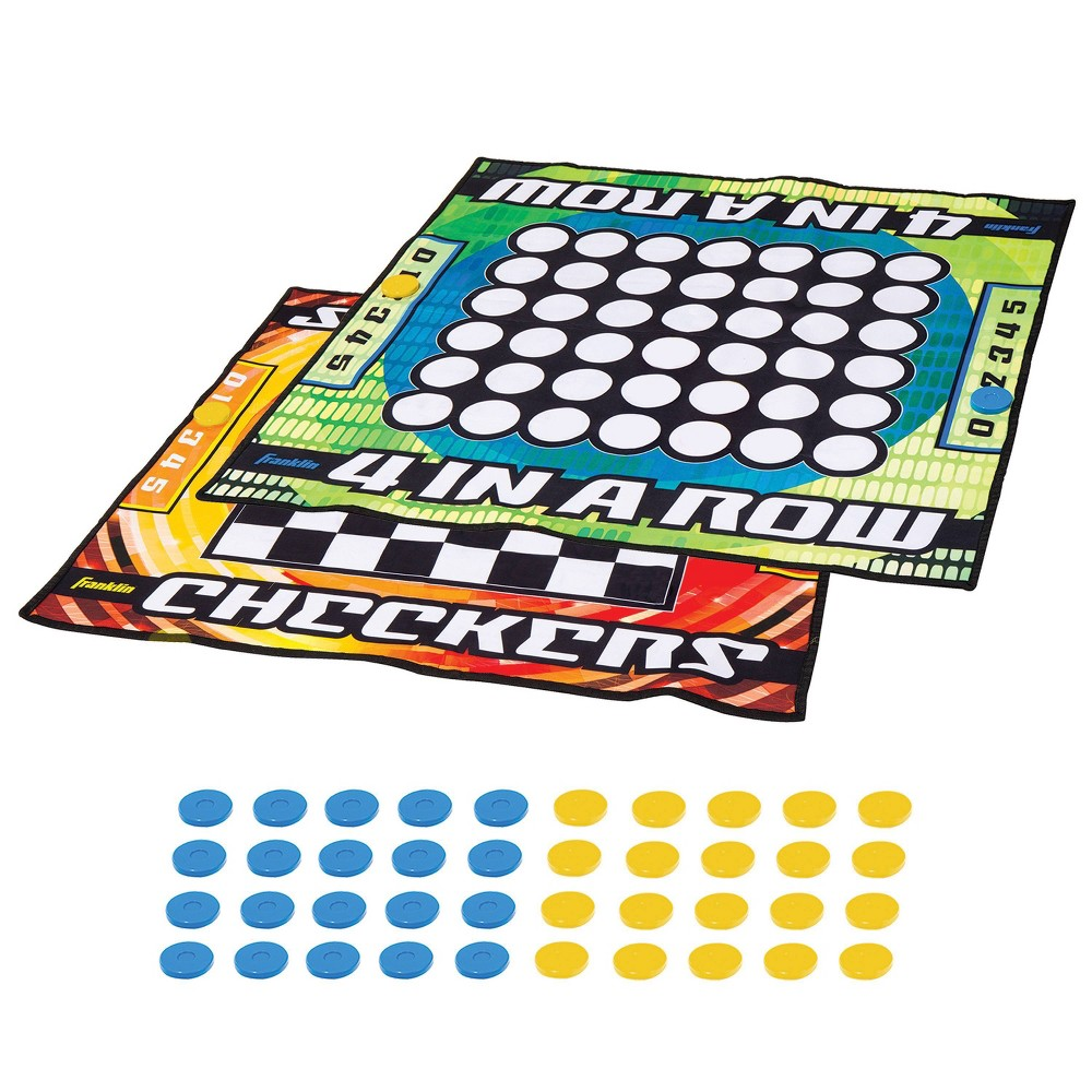 Franklin Sports Checkers 4 In A Row Mat