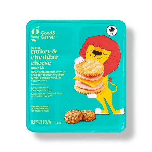 Smoked Turkey & Cheddar Cheese Lunch Kit - 2.8oz - Good & Gather™ - image 1 of 3