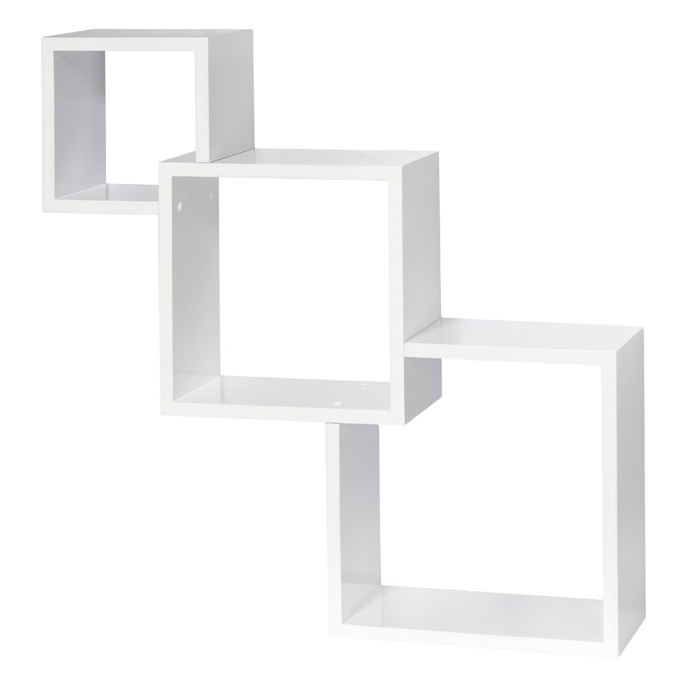 Image of Dolle Cascade Floating Boxes Wall Shelf - White