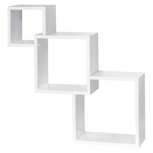 Dolle Cascade Floating Boxes Wall Shelf - White - image 1 of 2