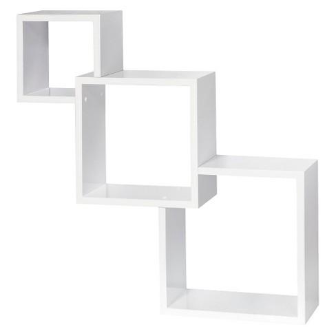 Dolle Cascade Floating Boxes Wall Shelf - White - image 1 of 3