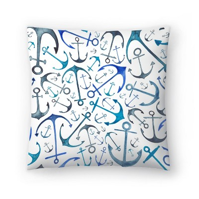 Americanflat Anchors by Elena Oneill Throw Pillow