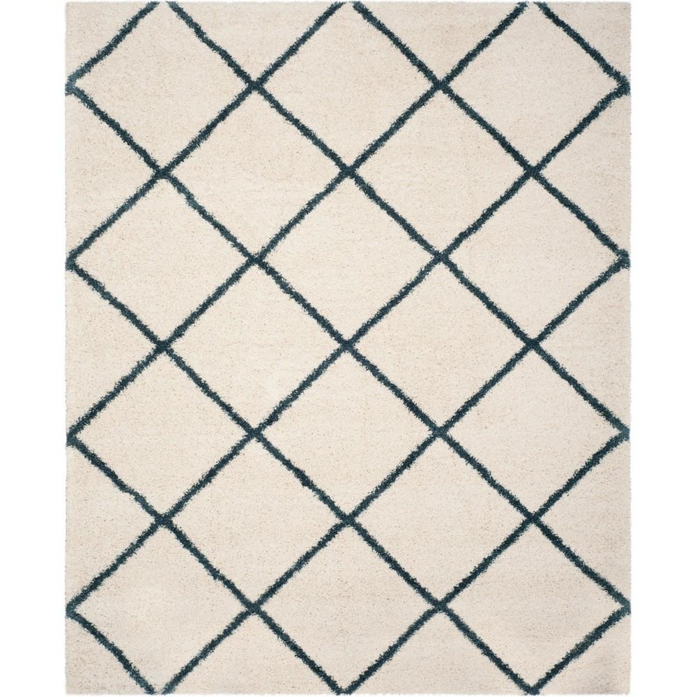 Hudson Shag Area Rug Ivory/Slate Blue