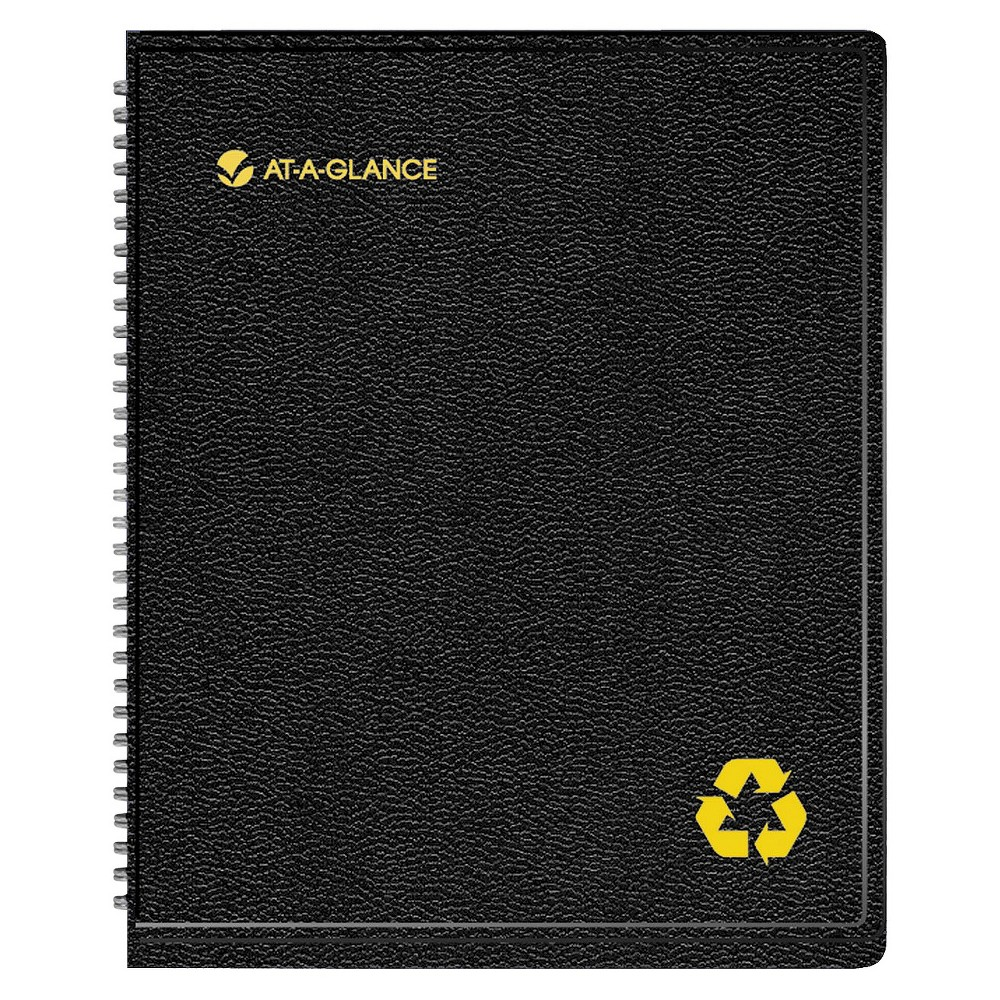 At-A-Glance Recycled Weekly/Monthly Classic Appointment Book, 6 7/8 x 8, Black, 2017