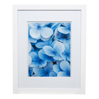 "Single Picture 16"" x 20"" Wide Double Matted to 11"" x 14"" Frame White - Gallery Solutions"