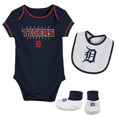 MLB Detroit Tigers Baby Boys' Short Sleeve Layette Set - 6-9M