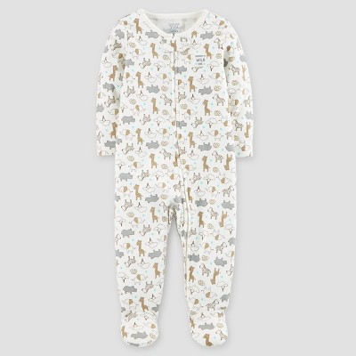 Baby Cotton Safari Mommy's Wild One Sleep N' Play - Just One You™ Made by Carter's® Cream 6M