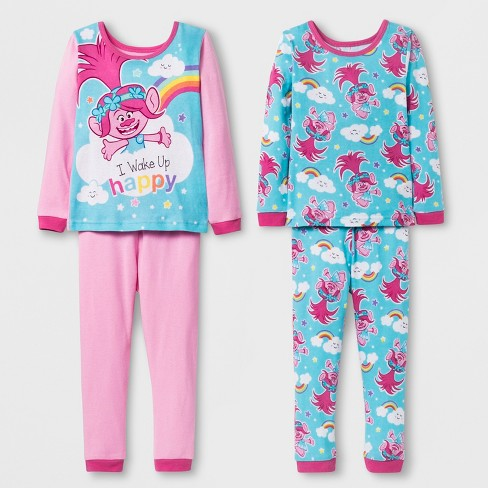 01c326474648 Toddler Girls  Trolls 4pc Pajama Set - Pink   Target