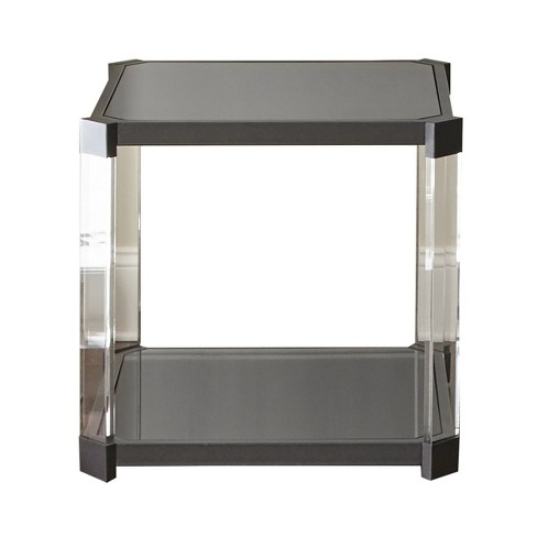 Newton End Table Acrylic Metal and Glass - Steve Silver - image 1 of 4