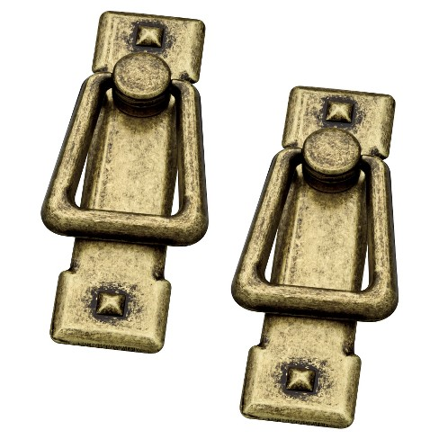 Liberty Hardware C-C Bail Vertical Pull - Antique Brass (Set of 2) - image 1 of 1