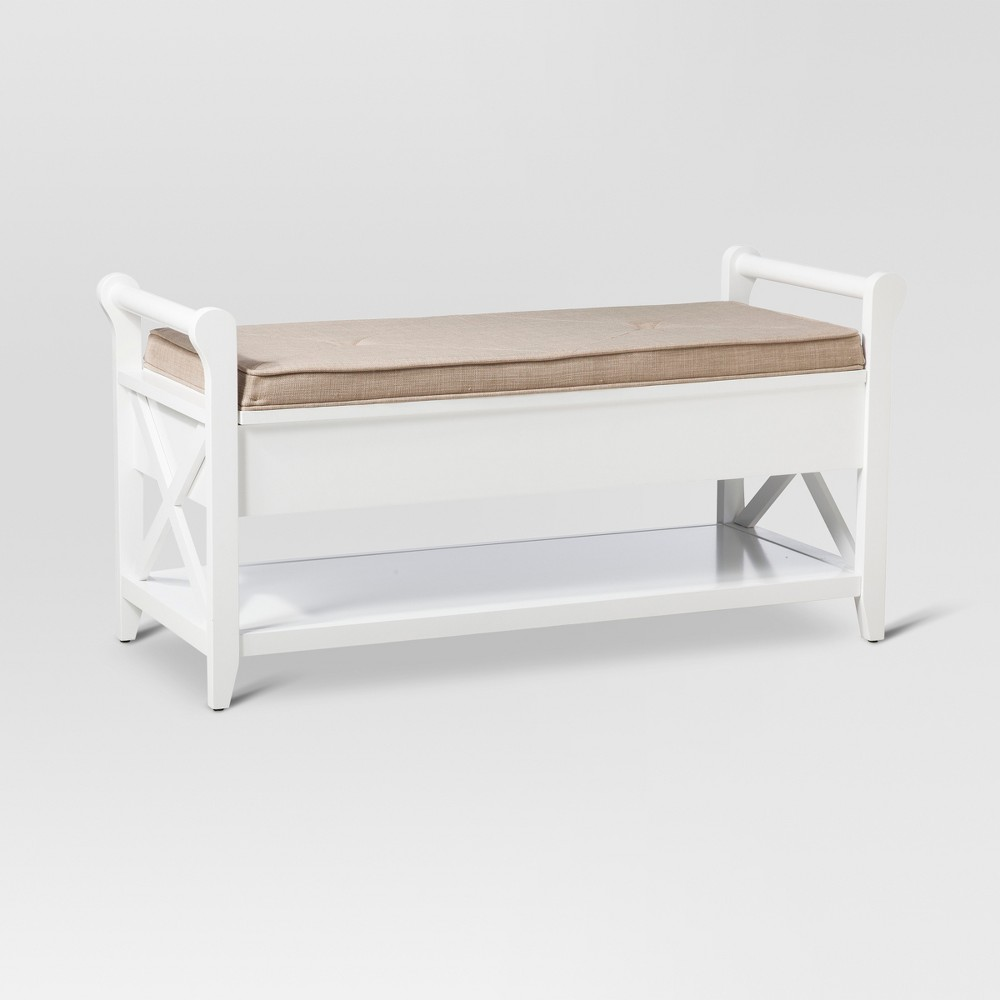 Vincent Entryway Bench - White - Threshold