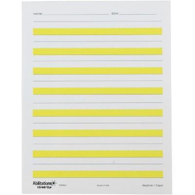 Abilitations Hi-Write Beginner Paper, Level 1, pk of 100 Sheets