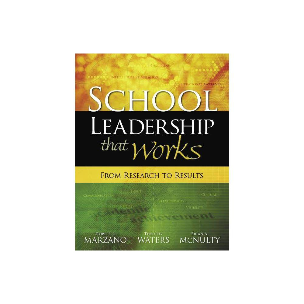 School Leadership That Works - by Robert J Marzano & Timothy Waters (Paperback) What does research tell us about the effects of school leadership on student achievement? What specific leadership practices make a real difference in school effectiveness? How should school leaders use these practices in their day-to-day management of schools and during the stressful times that accompany major change initiatives? Robert J. Marzano, Timothy Waters, and Brian A. McNulty provide answers to these and other questions in School Leadership That Works. Based on their analysis of 69 studies conducted since 1970 that met their selection criteria and a recent survey of more than 650 building principals, the authors have developed a list of 21 leadership responsibilities that have a significant effect on student achievement. Readers will learn * the specific behaviors associated with the 21 leadership responsibilities; * the difference between first-order change and second-order change and the leadership responsibilities that are most important for each; * how to work smart by choosing the right work to focus on to improve student achievement; * the advantages and disadvantages of comprehensive school reform models for improving student achievement; * how to develop a site-specific approach to improving student achievement, using a framework of 11 factors and 39 action steps; and * a five-step plan for effective school leadership. Combining rigorous research with practical advice, School Leadership That Works gives school administrators the guidance they need to provide strong leadership for better schools.
