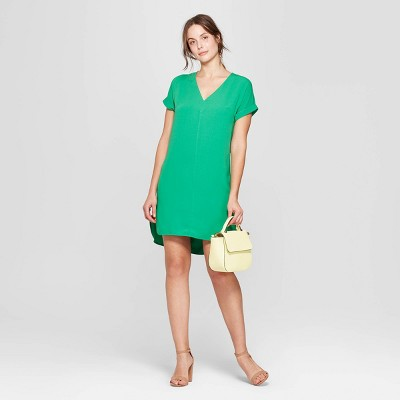 A NEW DAY. Women s Short Sleeve V-Neck Crepe Dress ... 5bc0aa931