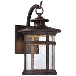 Franklin Iron Works Rustic Outdoor Wall Light LED Bronze Hanging Lantern Sconce Fixture for House Deck Porch Patio