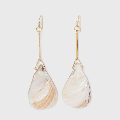 Gold Shell Drop Earrings - A New Day™