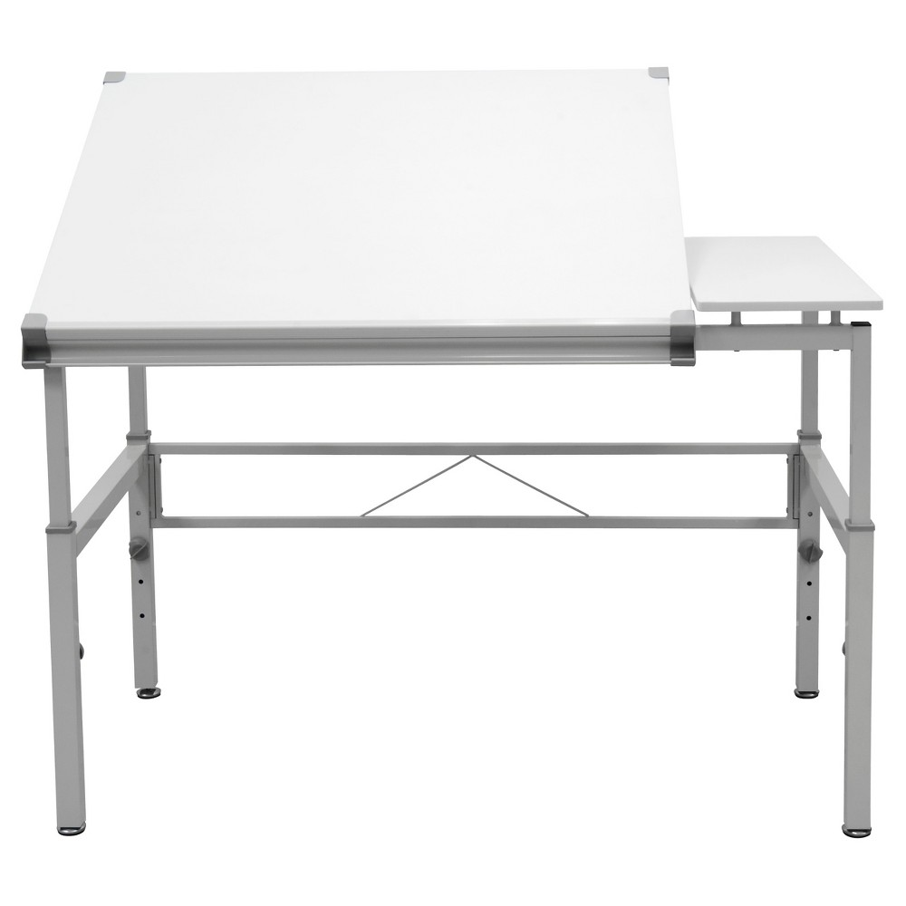 "Image of ""30"""" x 42"""" Canvas & Color Split Top Workstation White - Studio Designs"""