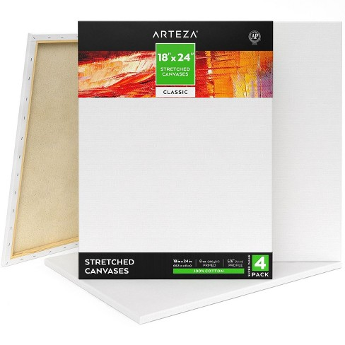 "ARTEZA Stretched Canvas, Classic, 18"" x 24"", Pack of 4 - image 1 of 4"