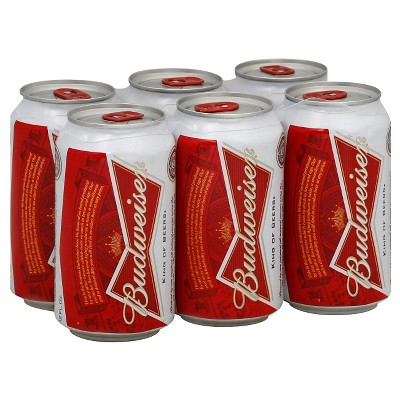 Budweiser Lager Beer - 6pk/12 fl oz Cans