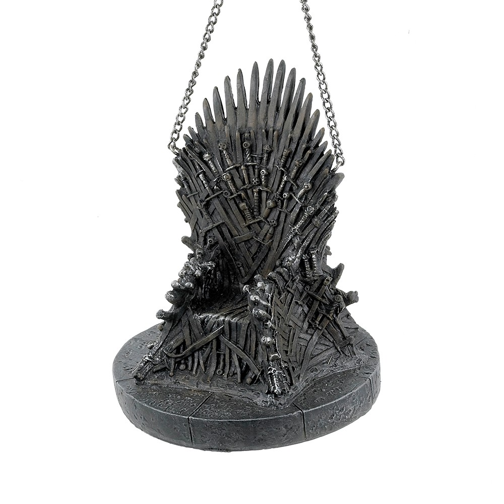 Iron Throne Game of Thrones Christmas Tree Ornament, Burnt Fog