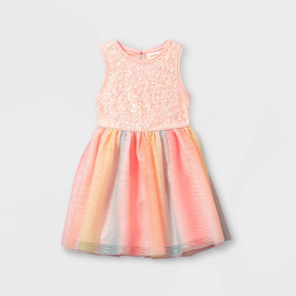 Toddler Girls 39 Sequin Rainbow Tulle Tank Dress Cat 38 Jack 8482 Pink 3t