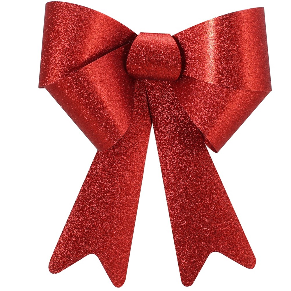 Red Glitter Bow 14 x 18.5 - Wondershop