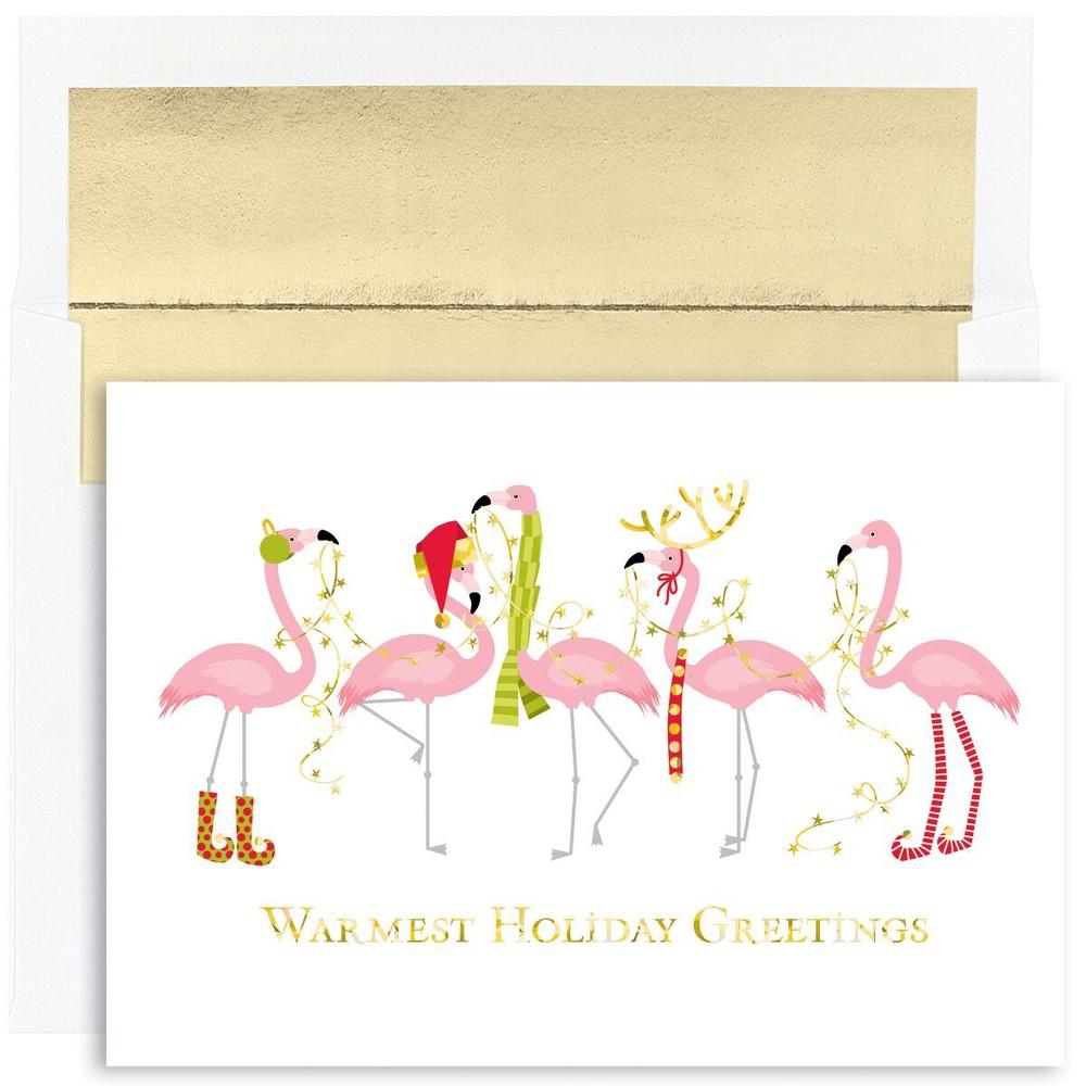 18ct Fashionista Flamingos Cards - Canopy Street, Multi-Colored
