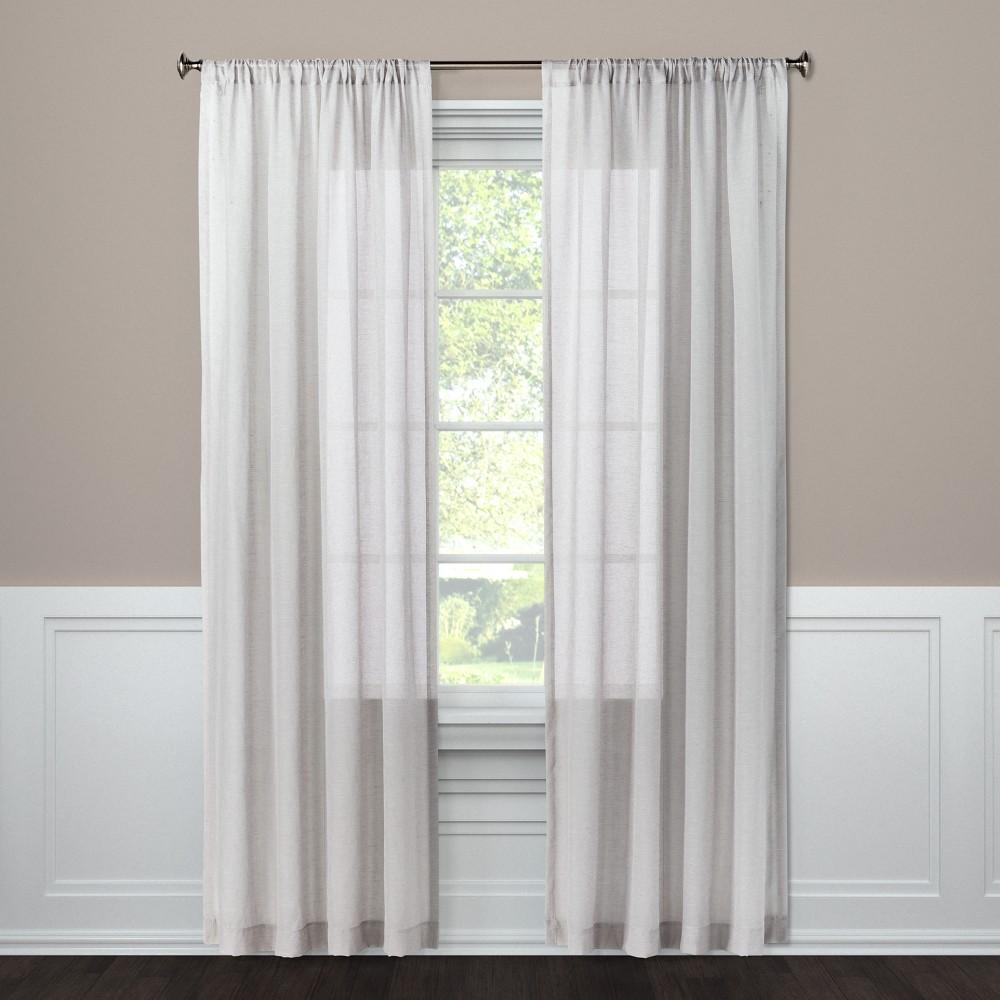 Sheer Curtain Panel Gray 63 - Threshold