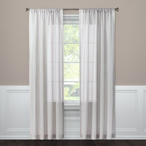 Sheer Curtain Panel Gray 108 Threshold Target