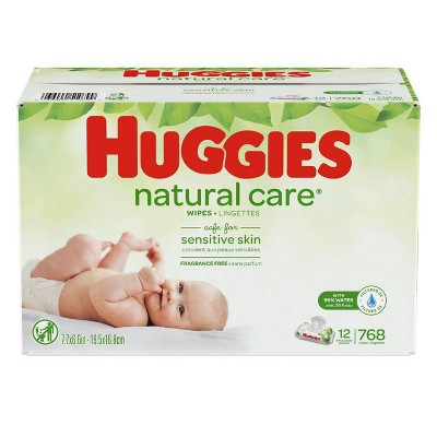 Huggies Natural Care Scented Baby Wipes Soft Pack 12 X 768ct