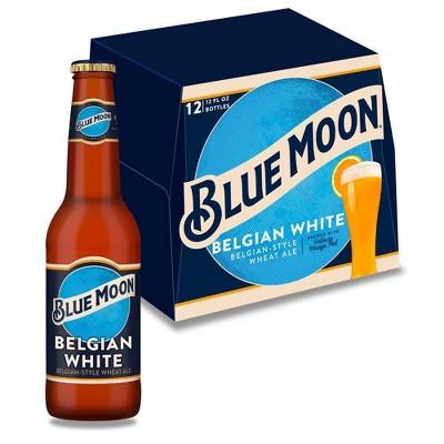 Blue Moon Belgian White Wheat Ale Beer - 12pk/12 fl oz Bottles