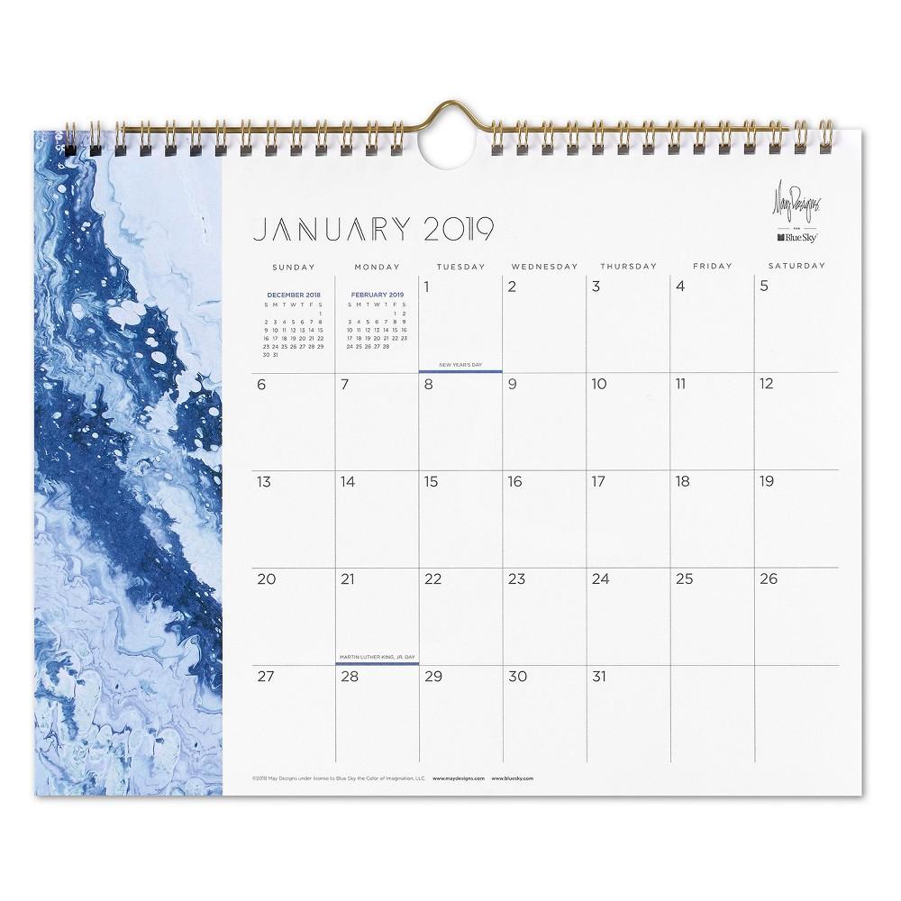 2019 Wall Calendar Geode Jupiter Blue - May Designs, Multi-Colored