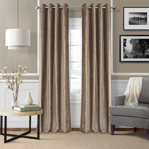 Victoria Velvet Room Darkening Window Curtain Panel - Elrene Home Fashions - image 1 of 4